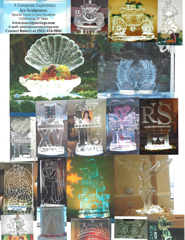 ice sculptures for weddings and parties