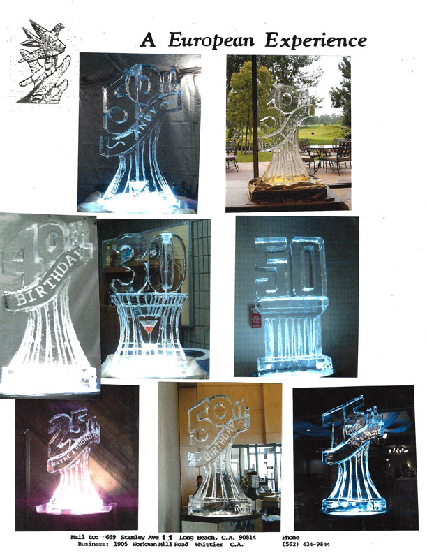 ice sculptures for birthday parties