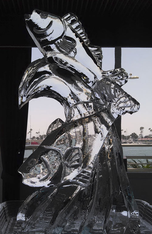 ice fish sculpture